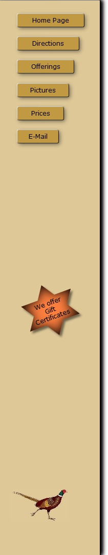 Click For Gift Certificate Information
